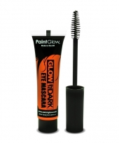 Glow in the dark mascara oranje