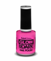 Glow in the dark nagellak neon roze
