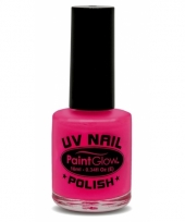 Glow in the dark neon roze nagellak