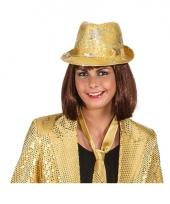 Gouden disco hoeden met glitters