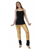 Gouden gaten legging voor vrouwen
