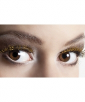 Gouden glitter wimpers