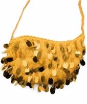 Gouden hantasje met pailletjes