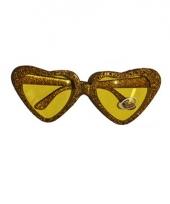 Gouden hartjes bril