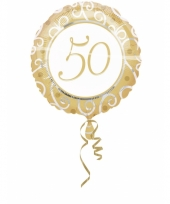 Gouden helium folie ballon 50
