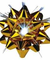 Gouden kadostrik met lichtje 9 cm