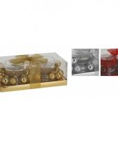 Gouden kerst kaarsen met gel