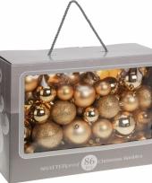 Gouden kerstballen 86 delig
