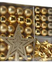 Gouden kerstboomdecoratie set 45 delig