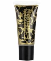Gouden make up met glitters