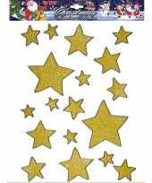 Gouden ster raamstickers 18 stuks