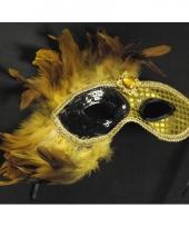 Gouden venetiaans gezichtmasker voor volwassenen