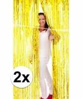 Gouden wand deur of raam gordijn 2 stuks