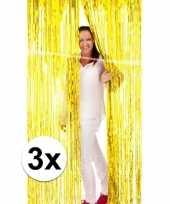 Gouden wand deur of raam gordijn 3 stuks