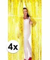 Gouden wand deur of raam gordijn 4 stuks