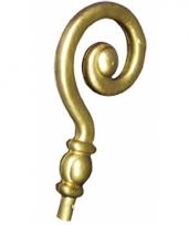Goudkleurige sinterklaas staf krul 36 cm