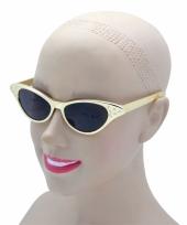 Goudkleurige zonnebril fifties