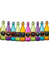 Griezel flessen met etiket