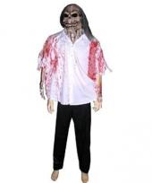 Griezelig masker met bloed blouse