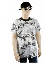 Grijs camouflage t-shirt