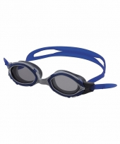 Grijze blauwe competitie zwembrillen volwassenen