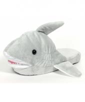 Grijze haaien instap sloffen voor kinderen