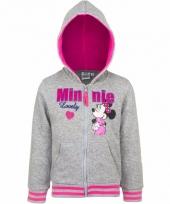 Grijze minnie mouse meisjes sweater