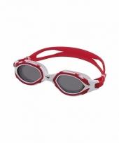 Grijze rode competitie zwembrillen volwassenen