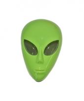 Groen masker buitenaards wezen