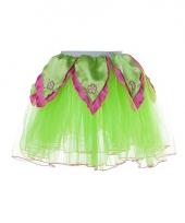Groen met roze verkleed petticoat voor meiden