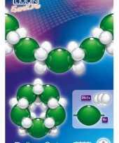 Groen witte ballonnen slinger