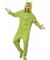 Groene alien verkleedkleding onesie