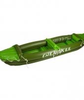 Groene cherokee kano opblaasbaar