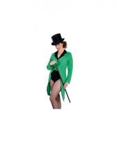 Groene circus jas dames