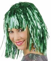 Groene foliepruik glinsterend