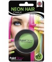 Groene glow in the dark haarkrijt