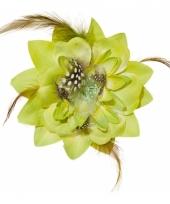 Groene hawaii broche en clip