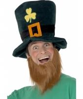 Groene hoed met rode baard