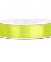Groene kadolinten satijn 12 mm 10085139