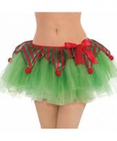 Groene kerst tutu rokje voor dames