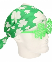Groene klavertje bandana accessoire