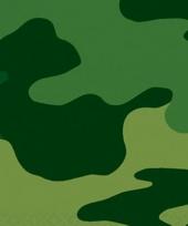 Groene legerprint tafelkleed