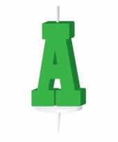 Groene letter kaars a