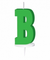 Groene letter kaars b
