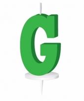 Groene letter kaars g