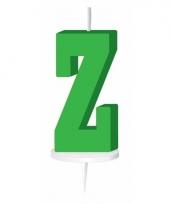Groene letter kaars z