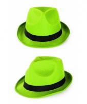 Groene party hoedjes