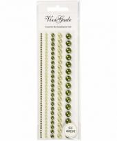 Groene plak parels 140 stuks voor het gezicht