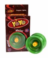 Groene speel jojo met extra touwtje
