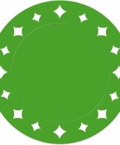 Groene versiering placemats 33 cm